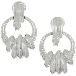 Napier Multi Ring Doorknocker Clip On Earrings