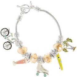 Napier Bike & Palm Tree Summer Charm Bracelet