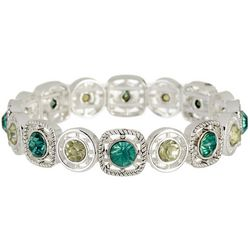 Napier Green Multi Faux Stone Stretch Bracelet