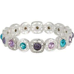 Napier Purple & Turquoise Blue Stone Stretch Bracelet