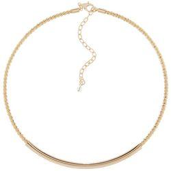 Napier Gold Tone Slider Bar Collar Necklace