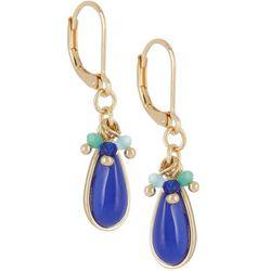 Napier Peruvian Trail Blue Teardrop Earrings