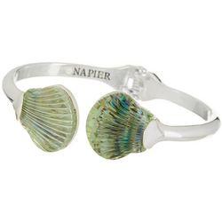 Napier Abalone Seashell Hinged Cuff Bracelet