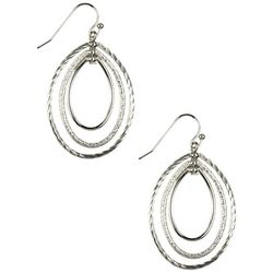 Napier Three Ring Oval Drop Earrings