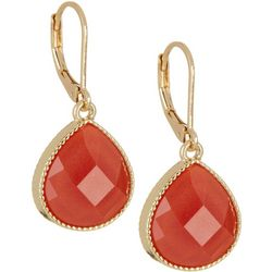 Napier Paradise Teardrop Stone Gold Tone Earrings