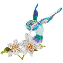 Napier Hummingbird & Flower Pin