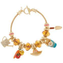 Napier Gardening Charm Toggle Bracelet