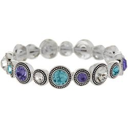 Napier Rainbow Disc Crystal Elements Bracelet