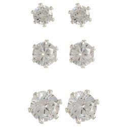 Napier 3-pc. Clear CZ Stud Earring Set