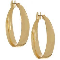Napier 25mm Click-It Gold Tone Hoop Earrings