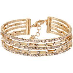 Napier Gold Tone Flex Cuff Bracelet