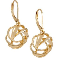 Napier Golden State Circle Drop Earrings
