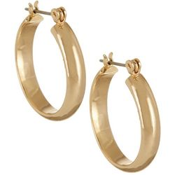 Napier Polished Gold Tone 22mm Hoop Earrings