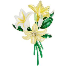 Napier Spring Lily Bouquet Flower Pin