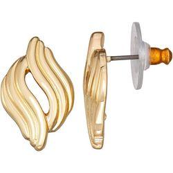 Napier Gold Tone Swirl Stud Earrings