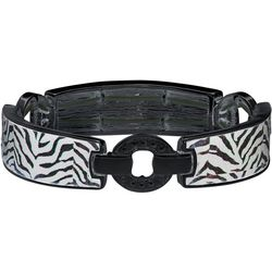 Napier Zebra Print Link Stretch Bracelet
