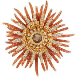 Napier Rhinestone Sunflower Pin