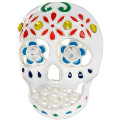 Napier Day Of The Dead Sugar Skull Pin