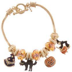 Napier Halloween Slider Bead & Charm Bracelet