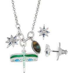 Napier Dragonfly & Star Charm Necklace Set