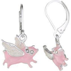 Napier When Pigs Fly Dangle Earrings