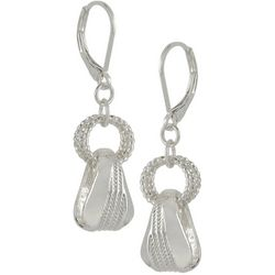 Napier Making Waves Ring Textured Drop Earrings
