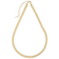Napier Feminine Edge Gold Tone Link Collar Necklace