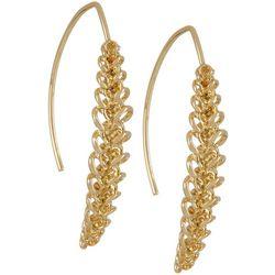 Napier Feminine Edge Gold Tone Chain Earrings