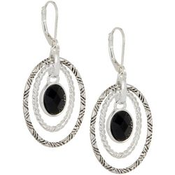 Napier Orbital Oval Double Dangle Earrings