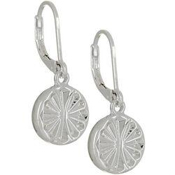 Napier Silver Tone Star Burst Drop Earrings