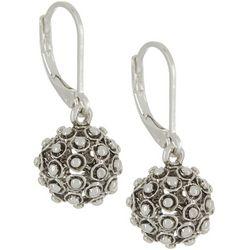 Napier Silver Tone Bead Ball Drop Earrings