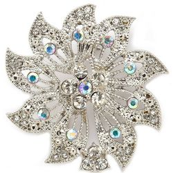 Napier Crystal Flower Pin Brooch