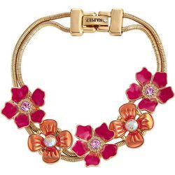 Napier Pink Multi Enamel & Rhinestone Bracelet