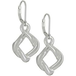 Napier Silver Tone Knotted Drop Earrings