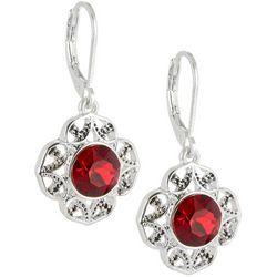 Napier Swarovski Crystal Element Flower Earrings
