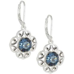 Napier Swarovski Crystal Element Flower Earrings
