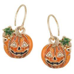 Napier Halloween Jack-O-Lantern Drop Earrings