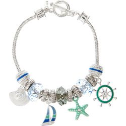 Napier Nautical Charm Toggle Bracelet