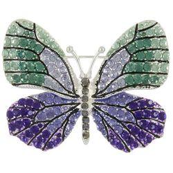 Napier Green & Purple Butterfly Brooch