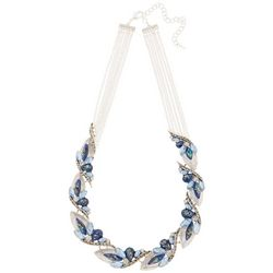 Napier Imperial Dream Blue Bead Front Necklace