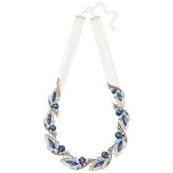 Napier Imperial Dream Blue Bead Front Necklace