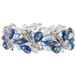 Napier Blue Imperial Dream Stone Beaded Stretch Bracelet