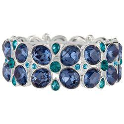 Napier Weekend Escape Blue Stone Stretch Bracelet