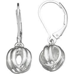 Napier Silver Tone Twist Ball Drop Earrings