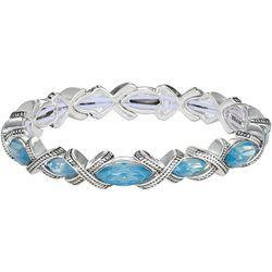 Napier Blue Marquis Link Stretch Bracelet