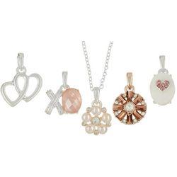 Napier Silver Tone Valentine's Pendant Necklace