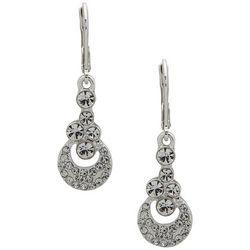 Gloria Vanderbilt Hematite Tone Round Leverback Earrings