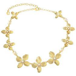 Gloria Vanderbilt Gold Tone Flower Collar Necklace