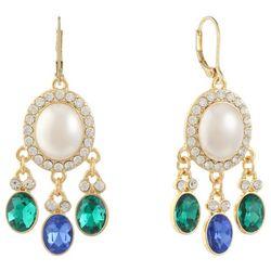 Gloria Vanderbilt Faux Pearl Leverback Drop Earrings