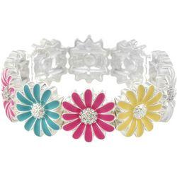 Gloria Vanderbilt Colorful Flower Stretch Bracelet